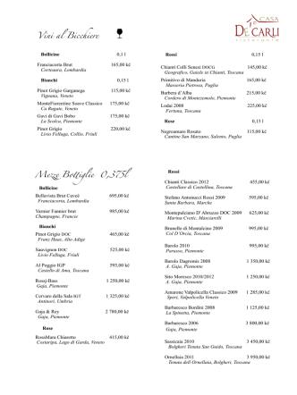 Casa De Carli Wine List Nov 2014.pages