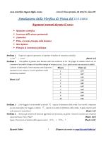 Simulazione della Verifica di Fisica del 13/11/2014
