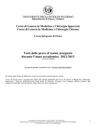 Compiti_2012-201 - Università di Palermo