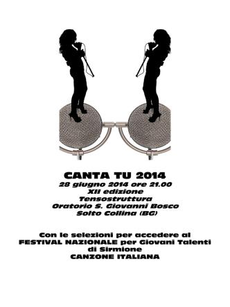 CANTA TU 2014 - Comune di Riva di Solto
