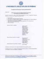 UN V RSITÀ EGLISTUDI D PARMA - Università degli Studi di Parma