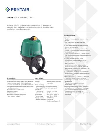 Alpha-Max Electric Actuators, Model ER/VS