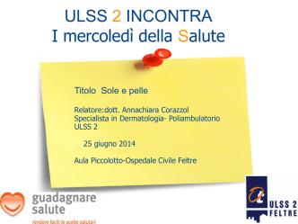 Corazzol - Azienda ULSS 2 Feltre