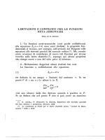 limitazioni e confronti per le funzioni· meta-armoniche