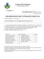 deliberazione del consiglio comunale
