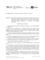 OGGETTO: Approvazione del verbale relativo alla procedura