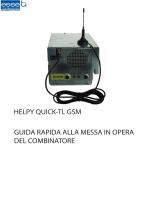 HELPY QUICK-TL GSM GUIDA RAPIDA ALLA MESSA IN - Esse-ti