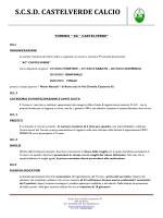 regolamento torneo - Castelverde Calcio