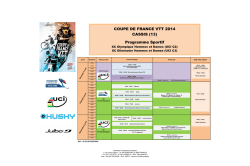 Programme Coupe de France VTT CASSIS XC - Cicle-Web