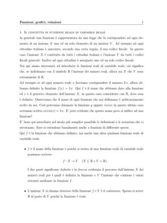 Appunti funzioni elementari