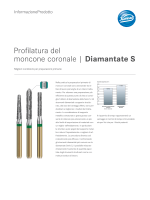 Profilatura del moncone coronale   Diamantate S