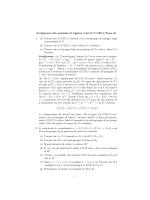 Svolgimento del compitino di Algebra 2 del 17/11/2014 (Tema A). 1