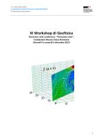XI Workshop di Geofisica - Ordine dei Geologi della Lombardia