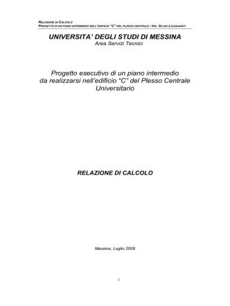 Calcolo solaio acciaio - Università degli Studi di Messina