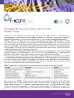 Metodi per la valutazione dello stato di HER-2 Roberto Fiocca
