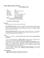 Mario Milani De Mayo De Mari Curriculum Vitae