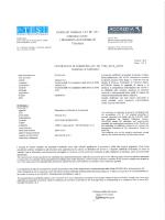 "Certificato di taratura ""autovelox"" SR 10 km. 334 + 400 dir. Verona"