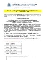 TEST DI VERIFICA DELLA PREPARAZIONE INIZIALE (TVI)