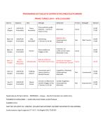 Programma Dettagliati Turni Centri Estivi 2014