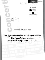 programma di sala - Teatro Amilcare Ponchielli