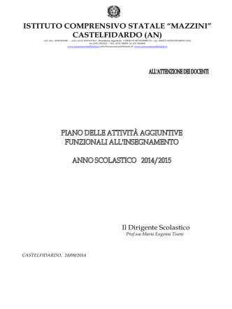 Calendario riunioni - Istituto Comprensivo Mazzini Castelfidardo