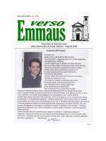 scarica il numero di dicembre di Verso Emmaus in formato PDF