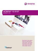 ACRIFIX® 1S 0107 - Röhm Schweiz AG
