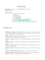 MATTEO VIEL Curriculum vitae - INAF