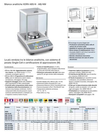 Bilance analitiche KERN ABS-N · ABJ-NM La