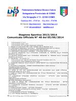 Comunicato ufficiale N.48