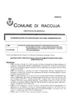 COMUNE DI RACCUJA
