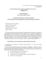 Lezione - Pontificia Università della Santa Croce