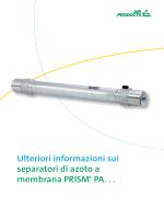 Ulteriori informazioni sui separatori di azoto a membrana PRISM® PA.