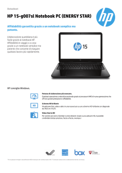 HP 15-g007sl Notebook PC (ENERGY STAR)