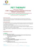 Programma Corso Pet Therapy