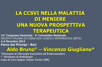 Convegno SIFCS - AMMI Italia - Associazione Malati Menière Insieme