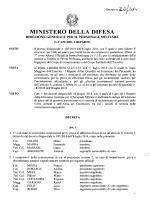 COMMISSIONI TECNICHE - Ministero della Difesa