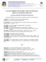 Calendario Regionale settore Arti Marziali 2014-2015