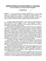 Memoria sui progetti di legge costituzionale A.C. 2613 ed ABB., in