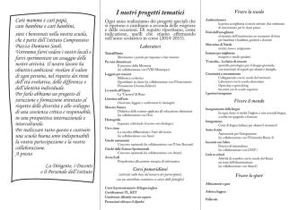 Brochure Open Day - Istituto Comprensivo Piazza Sauli