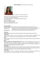 PAOLA ARDIZZOLA - Curriculum vitae