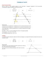 Teorema di Talete e Similitudine