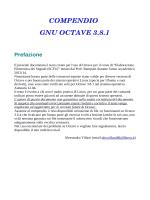 COMPENDIO GNU OCTAVE 3.8.1 Prefazione