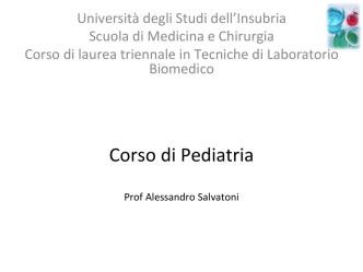 Corso di Pediatria