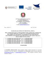 Prot. n 3695 G I 1 del 27.05.2014 BANDO DI GARA MEDIANTE