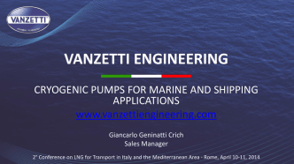 cryogenic pumps for marine and shipping applications