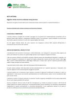 NOTA INTERNA Oggetto: Sintesi incontro sindacale Caring Services.