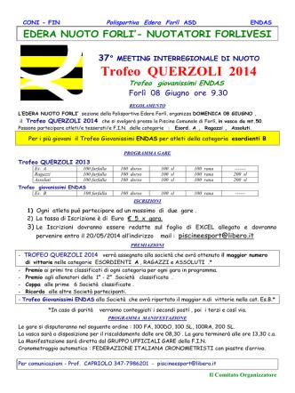 CONVOCAZIONI Trofeo Querzoli 2014
