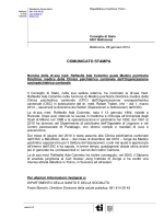 Nomina della dr.ssa med. Raffaella Ada Colombo quale Medico