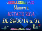 Materiale didattico - Dott. Nicola Cavalluzzo